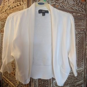 Cropped Cardigan Short Sleeve Shrug Mossimo